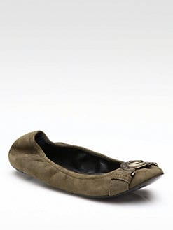 Burberry - Suede Ballet Flats