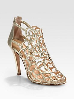 Oscar de la Renta - Gladia Artistic Metallic Leather Sandals