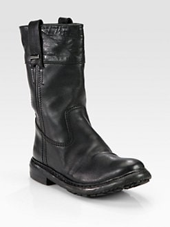 Burberry - Gulston Brit Leather Boots