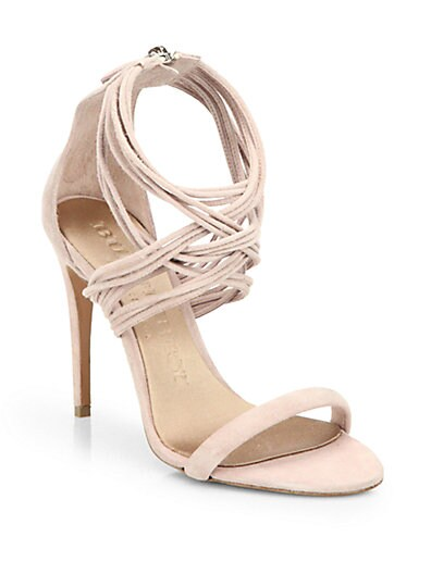 Delabole Suede High-Heel Sandals