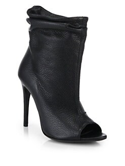 Burberry Burlison Open-Toe Suede Ankle Boots