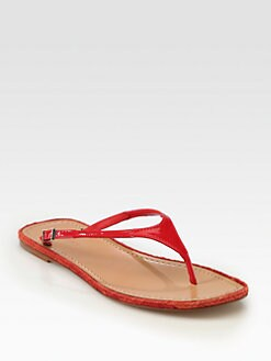 Giorgio Armani - Patent Leather Thong Sandals