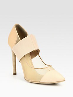 Reed Krakoff - Mesh & Leather Banded Pumps