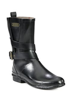 Burberry - Mid-Calf Buckle Rain Boots