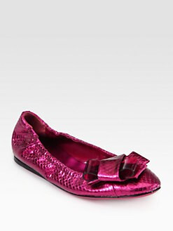 Burberry Prorsum - Surrey Snakeskin Ballet Flats