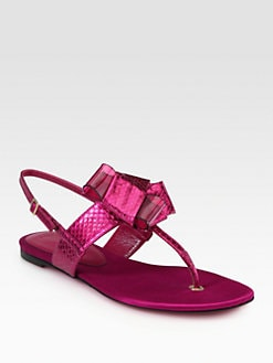Burberry Prorsum - Alchester Snakeskin Sandals