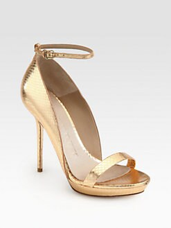 Burberry Prorsum - Chester Snakeskin Ankle Strap Sandals