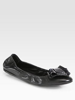 Burberry Prorsum - Surrey Leather & Snakeskin Ballet Flats