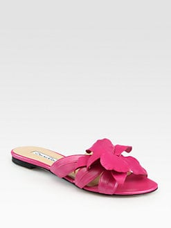 Oscar de la Renta - Miss Tropical Leather Slides
