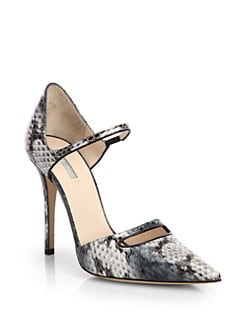 Giorgio Armani - Snakeskin Mary Jane Pumps