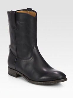 Ralph Lauren Collection - Marlow Western Leather Boots