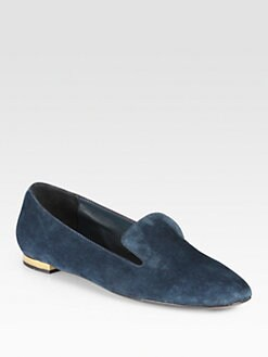 Burberry - Mormont Suede Smoking Slippers