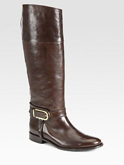 Burberry - Winton Leather Riding Boots