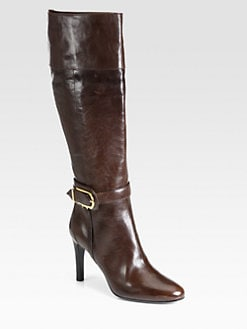 Burberry - Monteagle Leather Knee-High Riding Boots