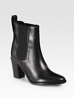 Burberry - Glendale Leather Ankle Boots