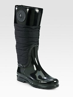 Burberry - Heber Puffer Rubber Rain Boots