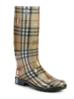Burberry - Lisson Check Rubber Rain Boots