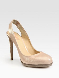 Reed Krakoff - Uniform Glitter Patent Leather Slingback Pumps