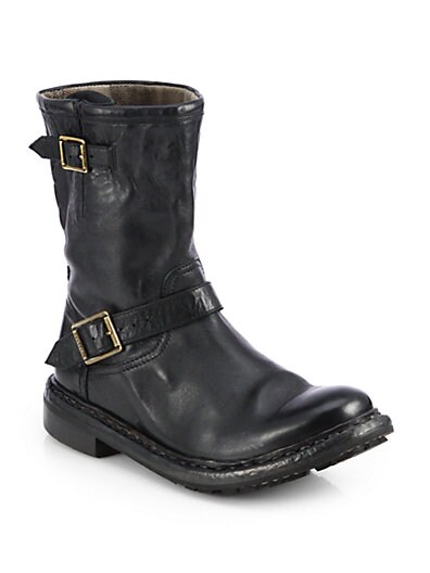 Andreck Leather Moto Boots