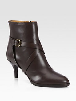 Ralph Lauren Collection - Diana Leather Ankle Boots