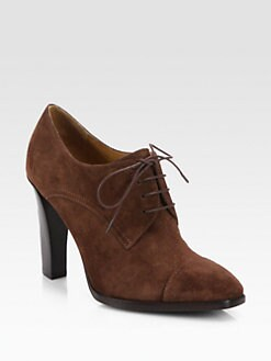 Ralph Lauren Collection - Narcissa Suede Lace-Up Ankle Boots