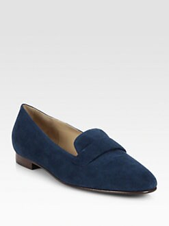 Ralph Lauren Collection - Quilia Suede Smoking Slippers