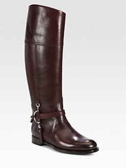 Ralph Lauren Collection - Sandra Leather Riding Boots