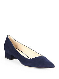 Giorgio Armani - Asymmetrical Suede Point-Toe Pumps