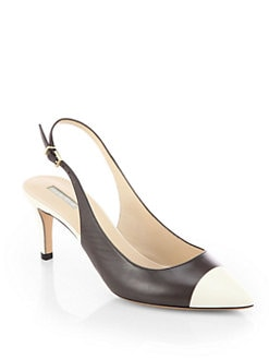 Giorgio Armani - Bicolor Leather Slingback Pumps