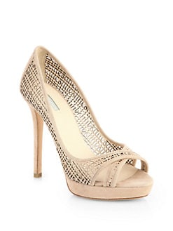 Giorgio Armani - Perforated Suede Platform Pumps