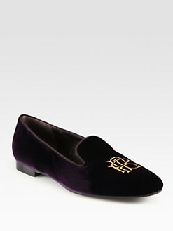 Ralph Lauren Collection - Ulah Velvet Smoking Slippers