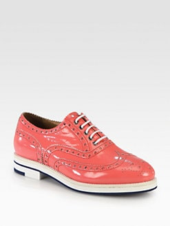 Giorgio Armani - Patent Leather Wingtip Brogue Lace-Up
