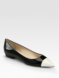 Giorgio Armani - Leather & Patent Ballet Flats