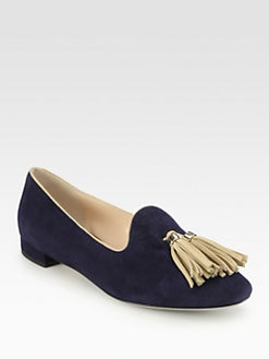 Giorgio Armani - Suede Tassel Smoking Slippers