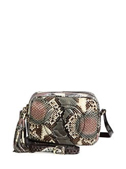 Gucci - Soho Shiny Python Disco Bag