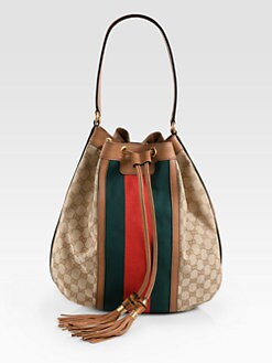 Gucci - Rania Drawsting GG Canvas Bag