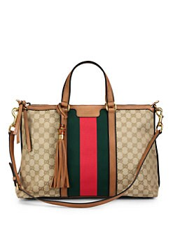 Gucci - Rania Top Handle GG Canvas Bag