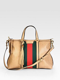 Gucci - Rania Leather Top Handle Bag