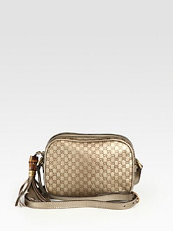 Gucci - Sunshine Metallic Microguccissima Disco Bag