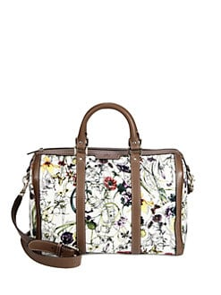 Gucci - Vintage Web Flora Canvas Boston Bag