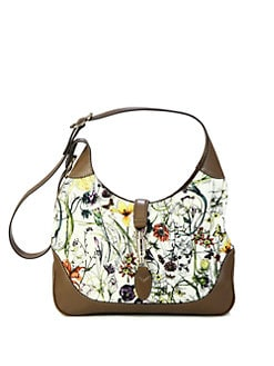 Gucci - Jackie Flora Canvas Shoulder Bag