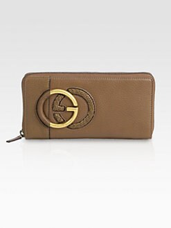 Gucci - Twill Leather Zip-Around Wallet