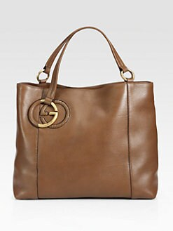 Gucci - Twill Leather Tote