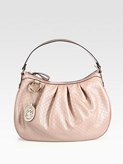 Gucci - Sukey Medium Metallic Microguccissima Leather Hobo