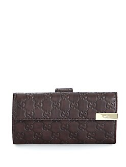 Gucci - Microguccissima Leather Continental Wallet