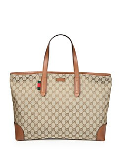 Gucci - Large Original GG Canvas Tote
