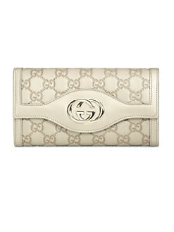 Gucci - Sukey Metallic Continental Wallet