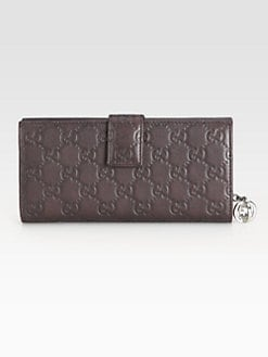 Gucci - GG Twins Flap Leather Continental Wallet