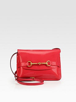 Gucci - Bright Bit Patent Leather Shoulder Bag