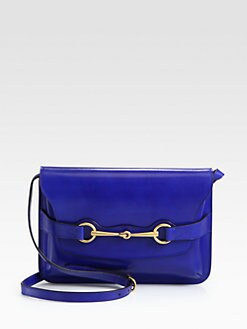 Gucci - Bright Bit Leather Shoulder Bag